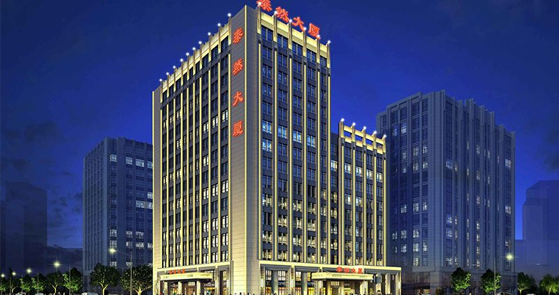 北京泰然大厦夜景,北京夜景,北京线条灯厂家,北京轮廓灯,洗墙灯