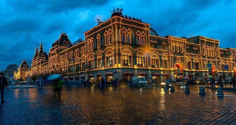 俄罗斯夜景,投光灯生产,36W投光灯,108W投光灯