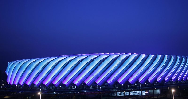 福州海峡奥体中心景观亮化,奥体中心,建筑夜景,夜景照明