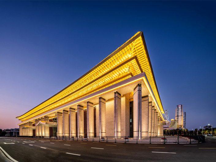 金鸡大厅-海鲜歌剧院夜景照明,建筑照明,夜景亮化
