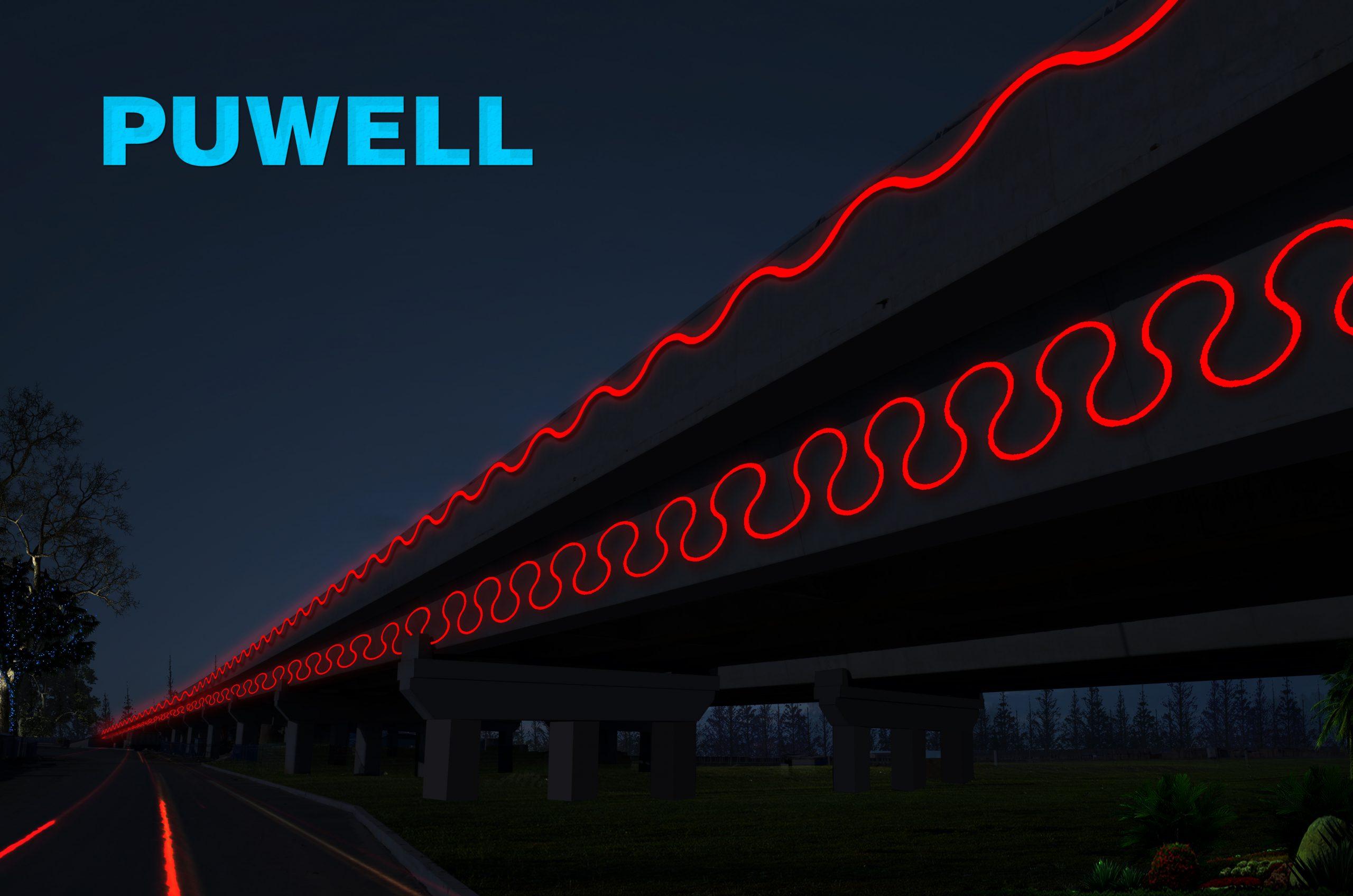 桥梁线条灯,桥梁造型灯,LED桥梁灯具,LED天桥灯,天桥造型灯