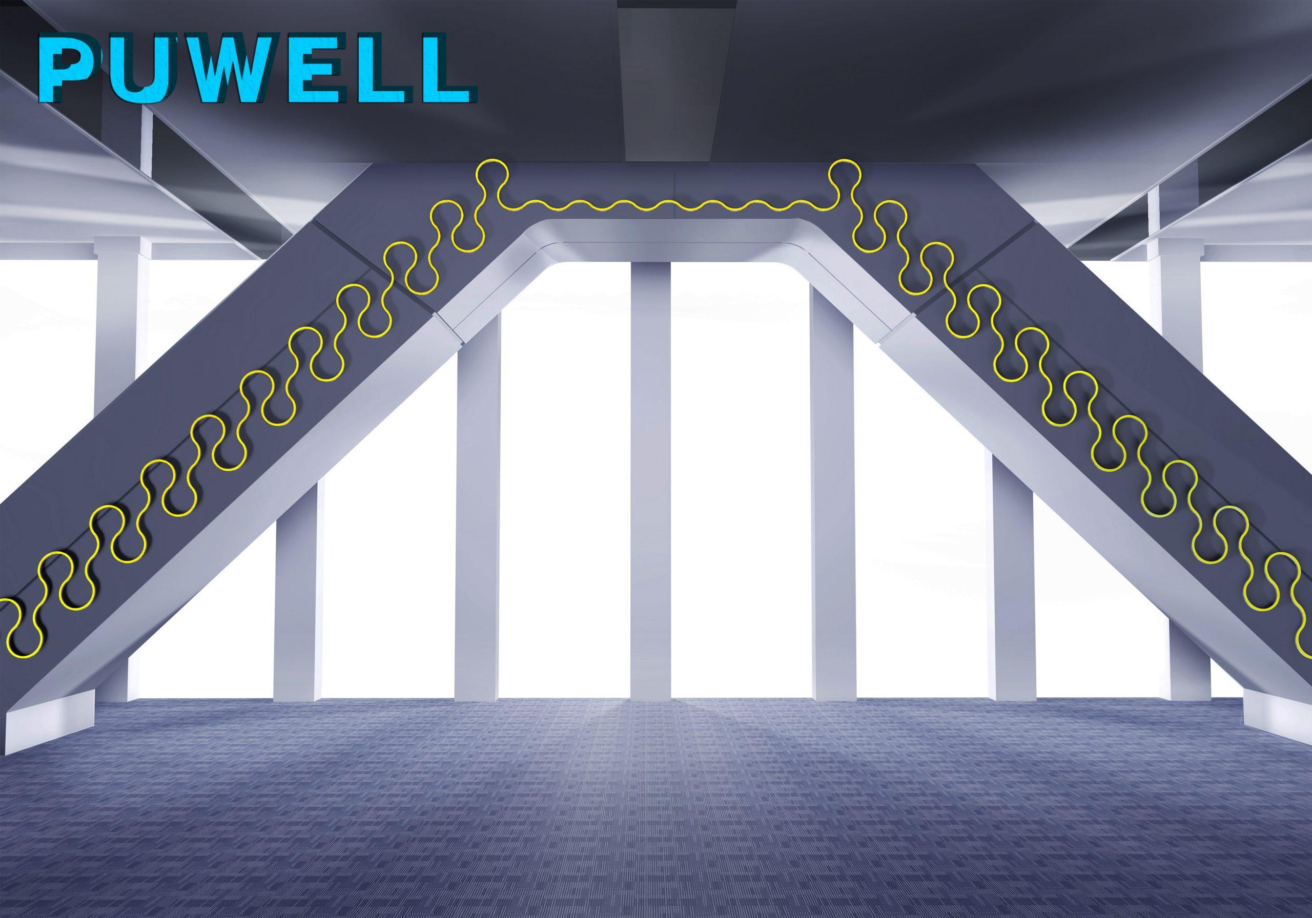 线条灯安装,弧形线条灯,LED定制线条灯,弧形轮廓灯